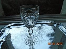 Gazdag rács és virág csiszolt mintákkal talpas kristály üveg pohár-15,50 cm