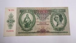 Hajtatlan aunc 10 pengő 1936.