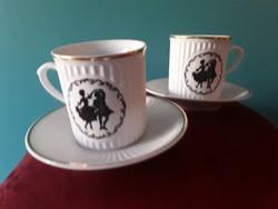 Iro10  2 db Bohémia csésze és alátét tányér árnykép  Ft/szett