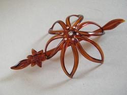 Retro bakelit virág alakú konytű, kontycsat