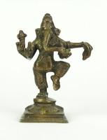 0X169 Régi Ganésa bronz szobor 15 cm