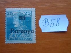 MAGYAR,SZERB MEGSZÁLLÁS BARANYA 25 FILLÉR  1919-  B58