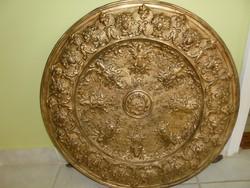 Óriási méretű antik réz fali tányér  fellelt állapotában