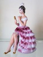 Gyönyörű antik / vintage női porcelán szobor