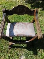 Lovagi szék szép állapotban!!!  Savonarola