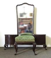 0X214 Régi tükrös fésülködő pipere asztal + ülőke