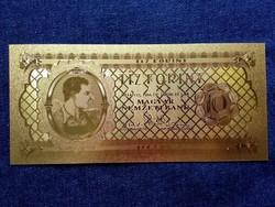 Gyönyörű arany színű plasztik dísz Tíz Forint/id 9708/