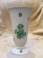 Zöld Viktoria mintás Herendi váza!! Ritka!