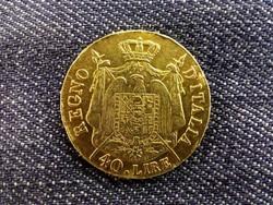 Olaszország, I. Napóleon arany (.900) 40 Líra 1808 M/id 9747/