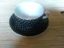 Francia porcelán kávés csésze kistányéral