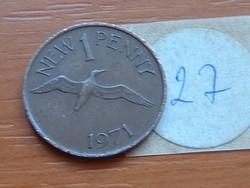 GUERNSEY 1 NEW PENNY 1971 GANNET (MORUS) MADÁR  27.