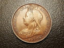 Viktória Nagy-Brittania fél penny 1896.aunc ilyen állapotban ritka!
