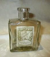 Régi parfümös-kölnis üveg zárjeggyel - Molnár és Moser Budapest
