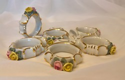 Német porcelán szalvétagyűrű készlet