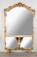 Empire stílusú nagyméretű tükör konzolasztallal
