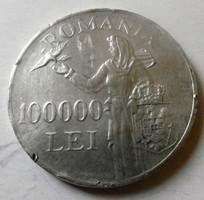 Ezüst 100000 Lej Ritka PH