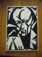 Bortnyik Sándor - Kassák Lajos portréja