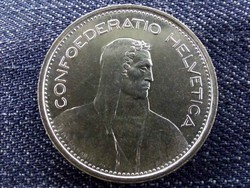 Svájc, aUNC ezüst (.835) 5 Frank 1967 B/id 9461/