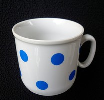 Zsolnay retró kék pöttyös csésze