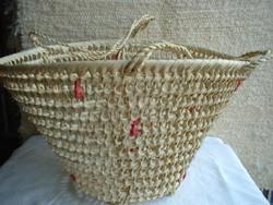 Új Háncs strandkosár-stranszatyor-strandtáska-nyári bevásárló táska átm.42 cm