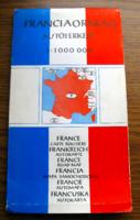 Franciaország autótérképe 1:1000000