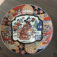Régi keleti kézzel festett porcelán tányér