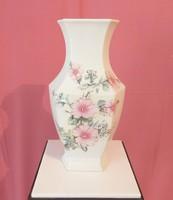 Váza, nagyméretű, virágmintás