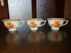 Herendi apponyi orange - UTASELLÁTÓ - kávés csésze, 3 db együtt