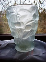 Ard deco cseresznyés üveg váza