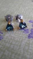 London kék topáz 925 ezüst fülbevaló