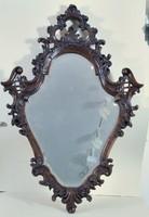 Bécsi barokk florentin tükör, faragott diófa
