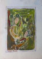 Szántó Piroska eredeti festménye!