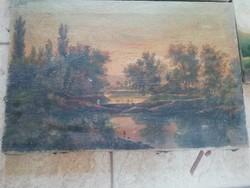 Antik csendélet olaj vászon festmény 1