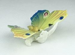 0W653 Régi jelzett ENS porcelán pillangó