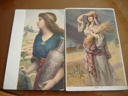 Ráhel 1916. ápr.21./Hazafelé búzamezőről Két képeslap egyben.