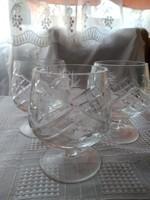 Kristály pohár 3 darab