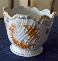 Herendi, indiai kosár-mintás, narancs színváltozatú kaspó – hibátlan, 40.000 Ft