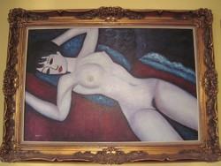 Hatalmas olaj festmény