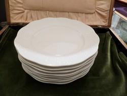 Fehér festetlen herendi desszertes tányér 8 db