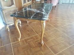 Warrings gyönyörű márványlapos asztal 130x65x64cm