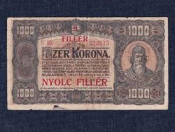 Magyarország, papír 1000 Korona 1923 8 fillér felülbélyegzéssel/id 9719/