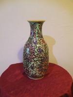 Antik kézzel festett kerámia váza