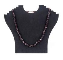 0X274 Fűzött ásvány női féldrágakő nyaklánc nyakék