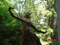 Aranyozott bronz nagy-Buddhista táncos szobor-30 cm