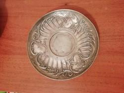 Szecessziós francia Galliametal ón kis tányér