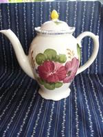 A01 Wood&Sons virágmintás tea- kávé kiöntő, teás kanna