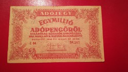 1946-os 1000000 Adópengő öttagú folyószám + amelyeknek