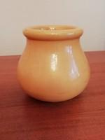 Antik Zsolnay hasas kis sárga kaspó