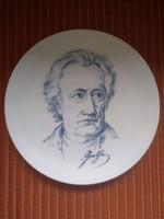 Meissen porcelán Goethe tányér