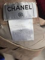 Chanel Selyem Lenvászon szoknya